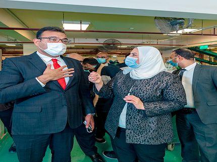 إفطار صائم.. وزيرة التضامن الاجتماعي تشارك في احتفالية بنك الطعام المصري