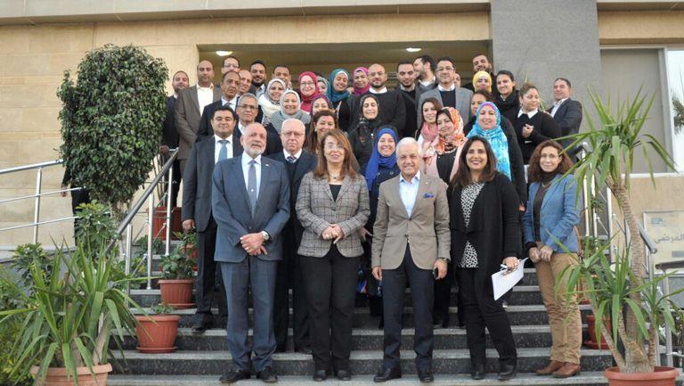 زيارة معالي وزيرة  التضامن الإجتماعي الدكتورة غادة والي للمقر الرئيسي لبنوك الخير بالتجمع الثالث
